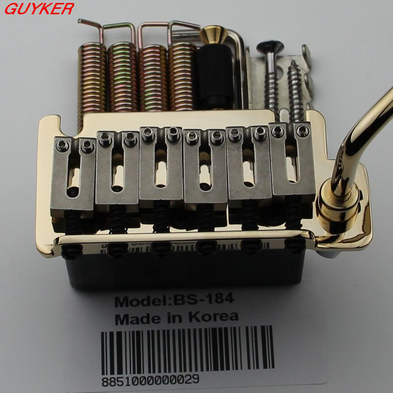 Double swing tremolo electric guitar 6 string board double swing bridge Stainless Steel Saddles Block BS184