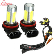 2 шт. для HID H11 H8 H9 фар Q5 удара светодиодные лампы Противотуманные фары + Canbus декодеры ошибок
