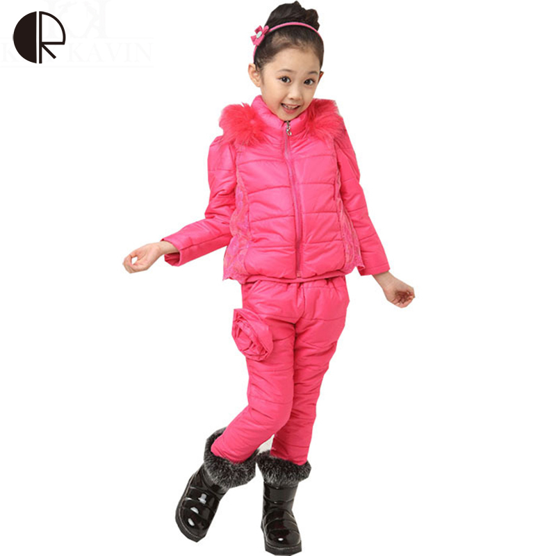 Free shipping 2014 autumn winter new arrival children clothing set 3d fold flower girls fashion Mla winter style fashion set