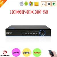 Hi3520D XMeye P2P 8CH 1080 P FUll HD de Surveillance Enregistreur Vidéo 12CH 960 P Numérique Onvif IP Caméra CCTV NVR livraison Gratuite