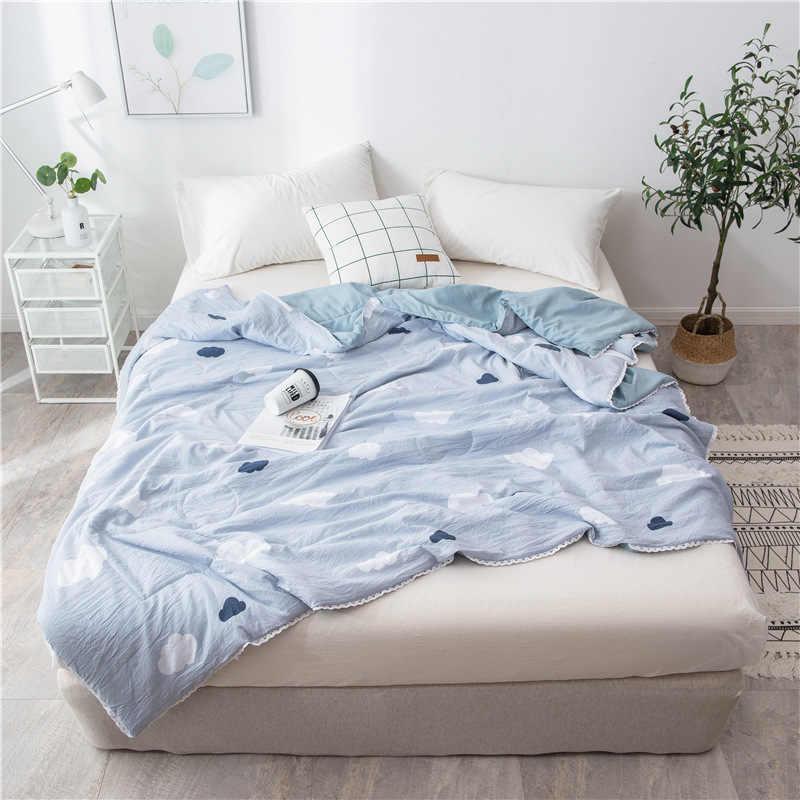 Реактивной печатных супер мягкие летние Стёганое одеяло одного двуспальная кровать летнее одеяло близнец полный queen Размеры Стеганный Килт