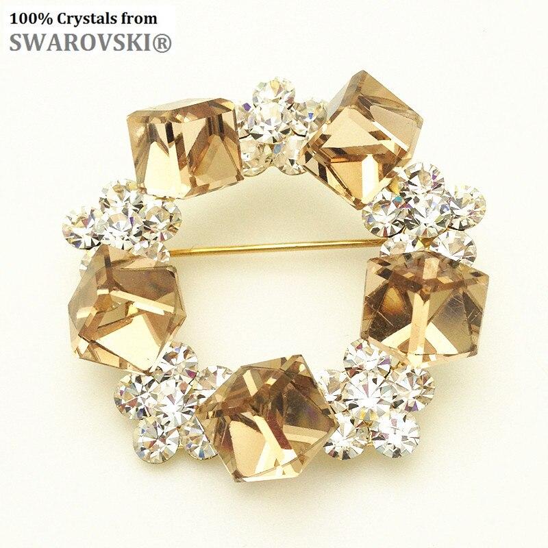2017 cadeau du jour de mère charme Strass en forme de fleur broche avec cristal de swarovski pour bijoux