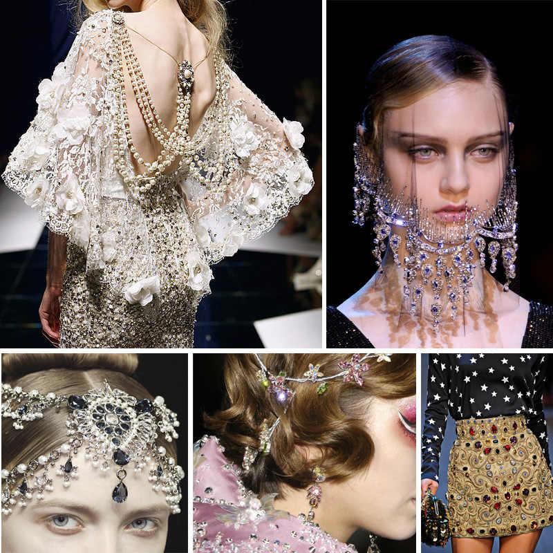 Zotoone Crystal Sew Stiker Berlian Imitasi untuk Dekorasi Nail Art DIY Berlian Imitasi Flatback Berlian Imitasi Batu untuk Pakaian Bordiran G