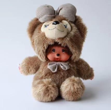 Ücretsiz Kargo Sevimli monchhichi hayvanlar karikatür 27 Renk peluş bebek dolması oyuncaklar çocuklar için en iyi hediye