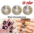 Saviland 1Pcs Nail Art Rhinestone Decoration Lovely Solid Imitation Pearl Decoration Nail Stone for DIY 3D Nails 10styles