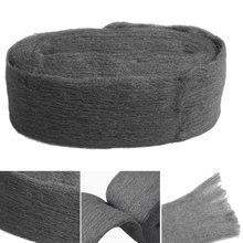 3,3 м ранг 0000 стальная проволока шерсть обертывание металлические аксессуары для полировки шлифовки очистка не осыпается