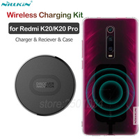 Nillkin Wireless Charging Kit for Xiaomi Mi 9T Qi Wireless Charger+USB Type C Receiver Adapter+TPU Case for Redmi K20 Pro