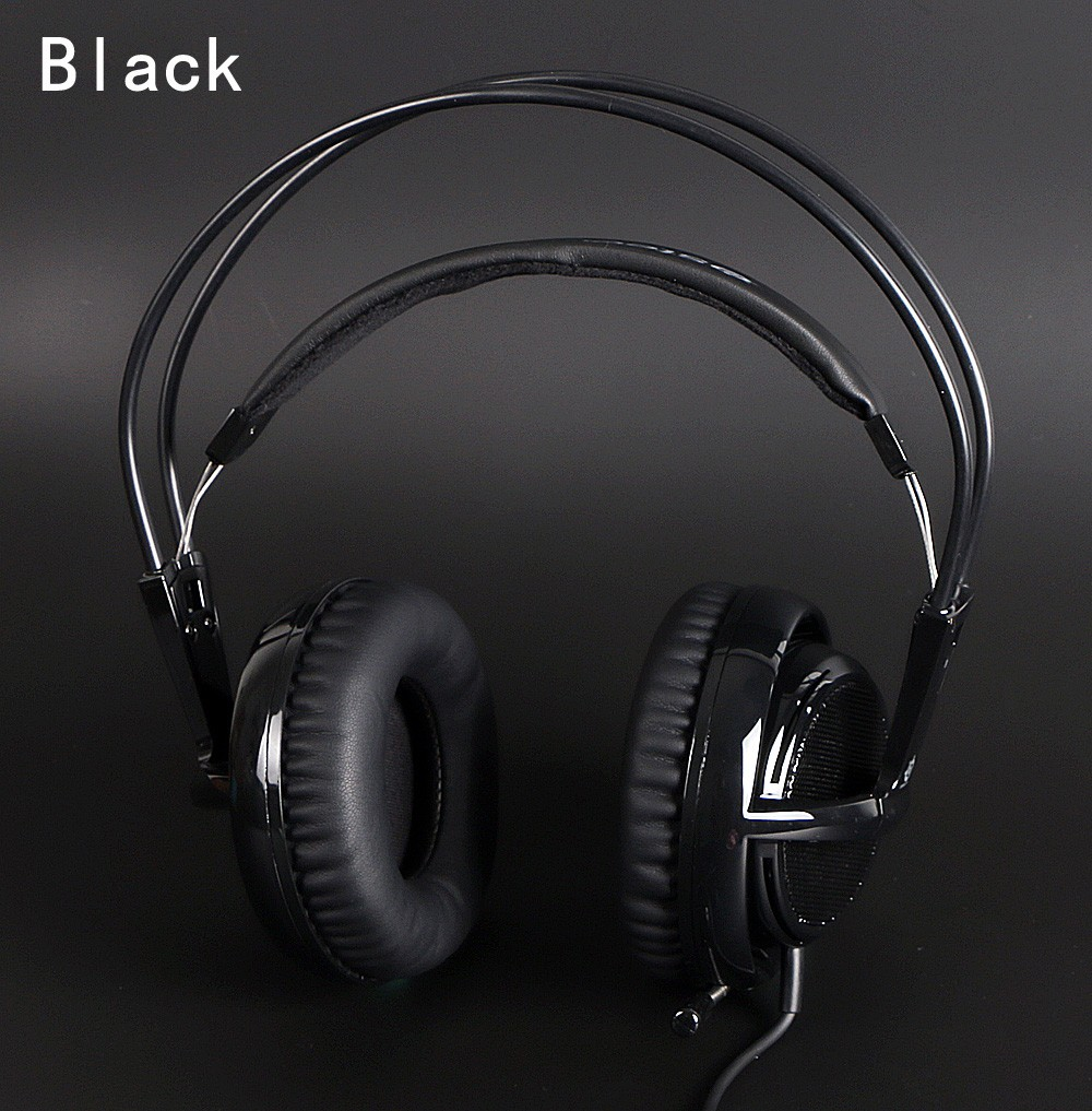 black Headset New Headphones Steelseries Siberia V2 Brand Noise Isolating Game Headphones For Headphone Gamer + Extension cord kz headset storage box suitable for original headphones as gift to the customer