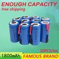 Golooloo 10Pcs/Lot 1800mAh Sub C SC NI-CD NI CD NI-CD 1.2V Rechargeable Batteries Battery