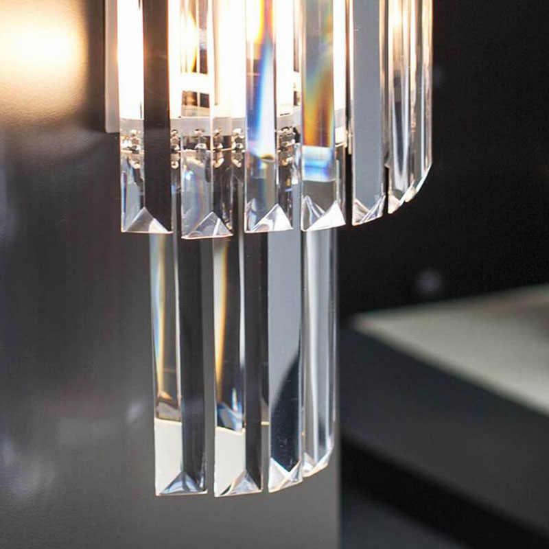 Modern Sederhana Crystal Lampu Dinding Putih Tubuh untuk Rumah Lampu Kamar Tidur Lampu E14 Ruang Tamu Ruang Kerja Lampu Dinding