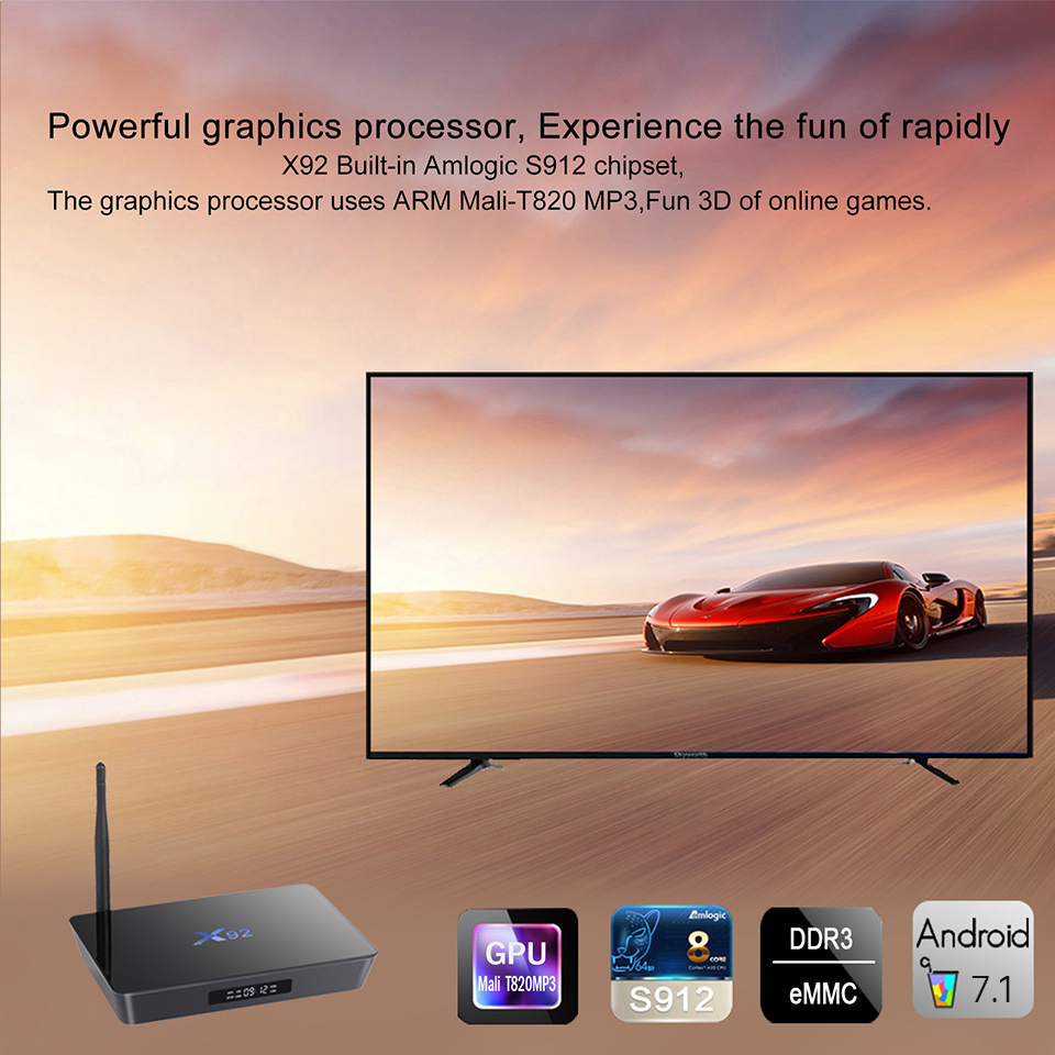 IPTV France X92 3GB 32GB Smart Android 7.1 TV Box S912 Octa Core Dual WiFi SUBTV Code Europe Arabic French IPTV Subscription (6)