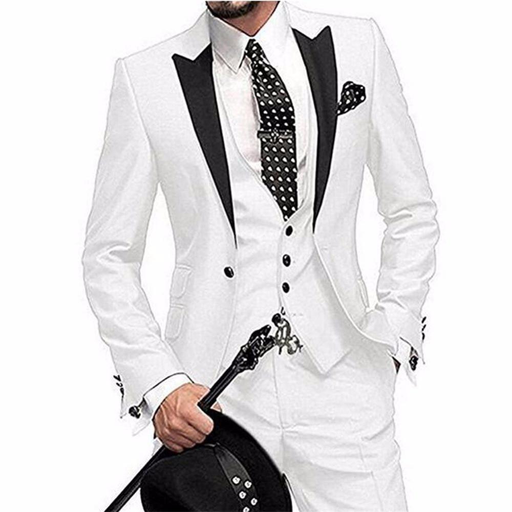 One Button 3 Piece Men Suit Slim Fit Coat Pant Design ...