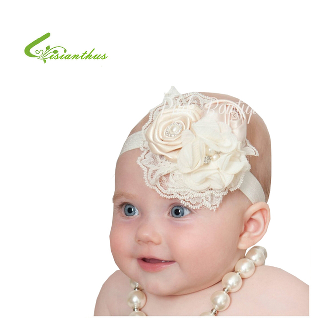 ecd27dc858f Baby Headbands Cute Princess Hairbands Kids Children Girls Hair Accessories  Lace   Chiffon Flower   Rose Headband Free Drop Ship