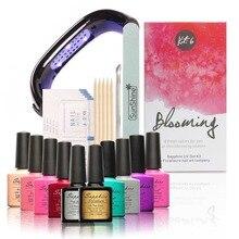 New Arrival 8 Fresh Blooming Sapphire Colors UV Gel Kit Soak-off Gel Polish Nail Gel Kit Nail Art Tools Sets Kits Manicure Set