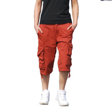 Fashion Mens Cargo Shorts Casual Cotton Multi Pocket Summer Man Short Pants Plus Size Bermuda Brand European American Style pant