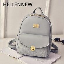Hellennew рюкзак Для женщин рюкзак модные черные Рюкзаки для подростков Обувь для девочек Школьные сумки известный бренд Для женщин сумка Mochila6019
