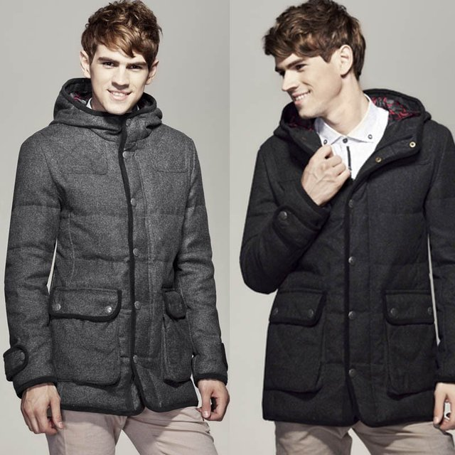 0b06a42d516 Hooded down jacket male thickening famous brand winter coats winter new 90%  duck down men down jacket coat winter long D016