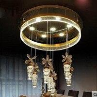 Modern restaurant chandelier LED bubble column crystal chandelier creative dining room bar restaurant light Simple table lamp