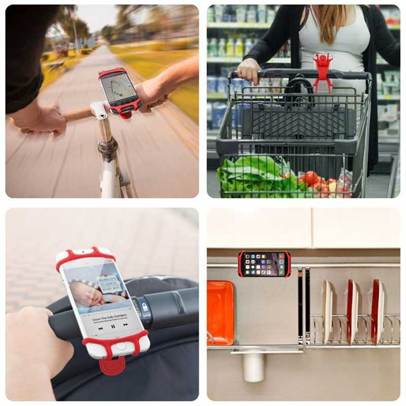 YKZ bisiklet telefon tutucu iPhone 6 7 8 artı X evrensel cep telefon tutucu bisiklet gidon standı GPS montaj braketi