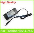 19 В 4.74A 90 Вт AC ноутбук адаптер питания для Toshiba Equium A100 A110 A200 A210 A300D L100 L20 L300 M70 F40 F45 F60 зарядное устройство