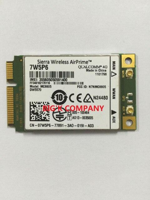 Unlocked MC8805 DW5570 7W5P6 Sierra  4G 100% NEW&Original  For DELL Latitude E5440 E6440 E6540 E7240 E7440 M4800 in stockM6800