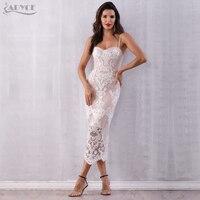 Adyce Sexy Women Summer Lace Bandage Dress Vestidos Verano 2018 Spaghetti Strap Bodycon Club Dress Elegant Celebrity Party Dress
