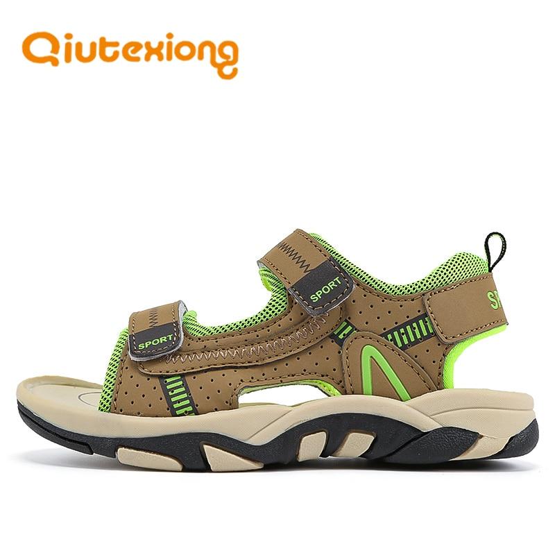 QIUTEXIONG Summer Beach Sandals For Boys Kids Sandals Children Shoes Breathable Cut-outs Quick-dry School Sport sandalia Shoe