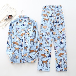 Image 4 - Cute white bear 100% brushed cotton men pajama sets Autumn Casual fashion animal sleepwear men homewear sexy pijamas mujer