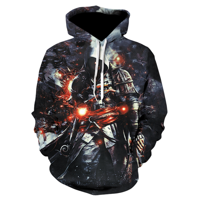 bf09691b85867 US $14.73 45% OFF free shipping 3d Print Hoodies long Sleeve Tops fashion  black flag game Hoodies hidden blade tops plus size 3XL wholesale -in ...