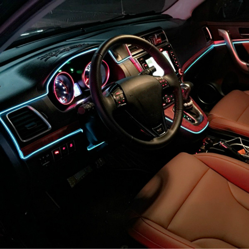 Car Interior LED EL Wire Rope Tube Line strip For toyota corolla ...