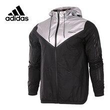 f646d729 Адидас Ориджинал Новое поступление официальный Neo Для мужчин;  ветрозащитная куртка с капюшоном Спортивная cd2348