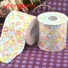 2Packs 60m Doughnuts Sweet circle  Printing Toilet Paper Tissues Roll Novelty Tissue Wholesale