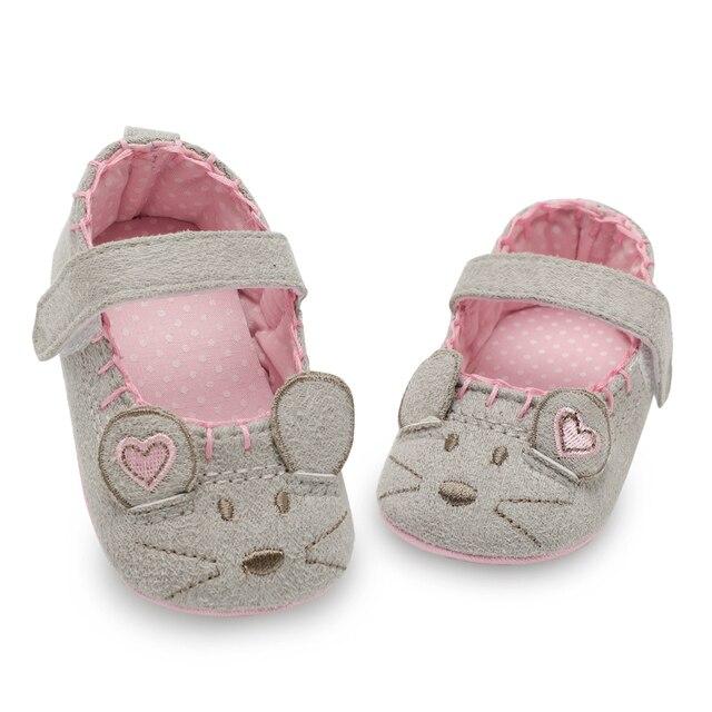 1b1e9caae Newborn Baby Girl Shoes Cute Animal Princess Kid Anti-slip On Shoes 0-18  Months Toddler Crib Hook   Loop First Walkers free shipping worldwide