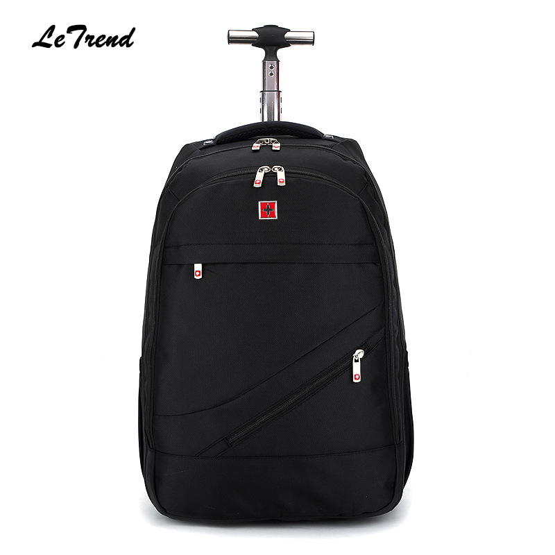 Letrend New Fashion Business Oxford Travel Bag Men Large Capacity Backpack Women Rolling Luggage Trolley Bag Boarding Box Trunk 2016 new arrival large capacity travel backpack mountaineering bag oxford men s bag free shipping