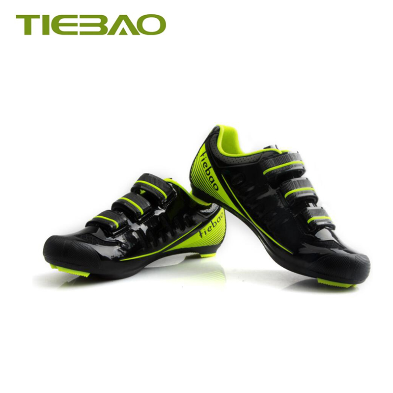 Купить с кэшбэком Tiebao cycling shoes road sapatilha ciclismo 2019 men self-locking breathable road pedals superstar sneakers Athletic bike shoes