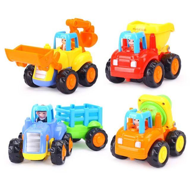 Vehículos de construcción para niños de 2 a 3 años, juguetes gruesos de dibujos animados para tirar hacia atrás, regalo para niños pequeños, MAR 20