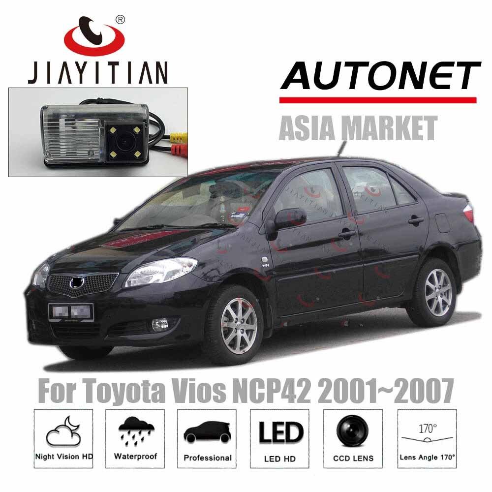 Cámara de visión trasera JiaYiTian para Toyota Vios XP40, NCP42, 2002, 2003, 2004, 2005, 2006, 2007, 2008, cámara de respaldo CCD, cámara para matrícula