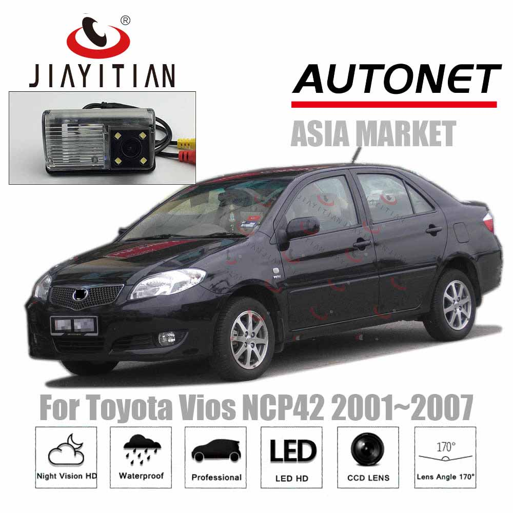 JiaYiTian rear view camera For Toyota Vios XP40 NCP42 2002 2003 2004 2005 2006 2007 2008 CCD Backup Camera  license plate camera