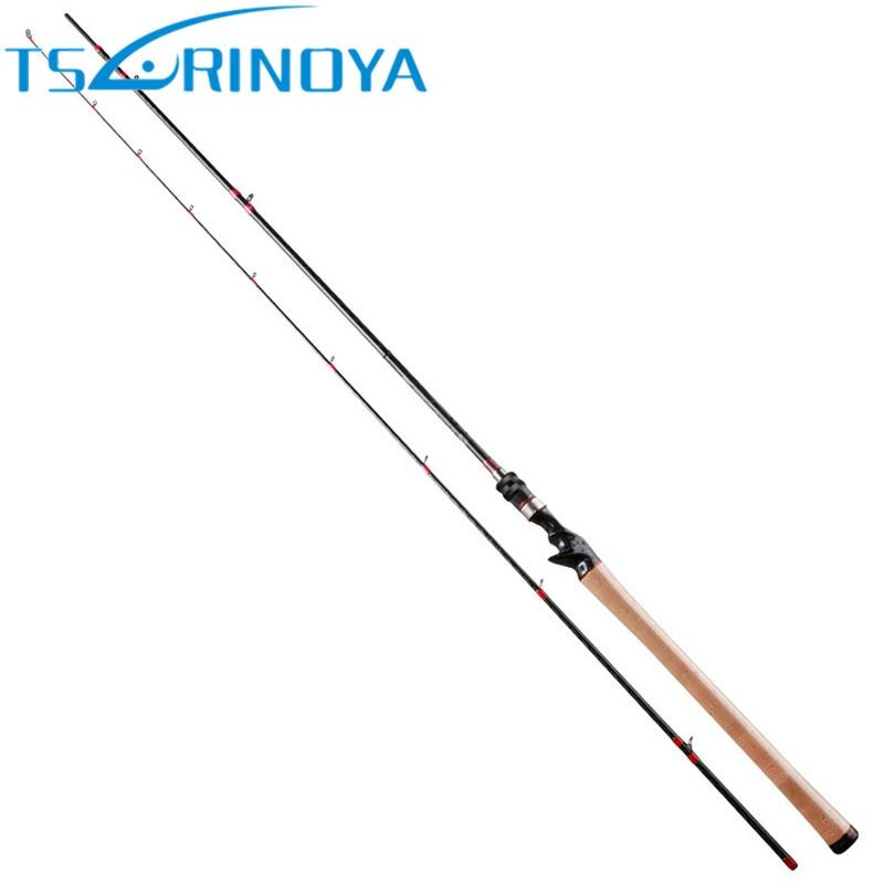 TSURINOYA 2.47m/7-25g/M Carbon Baitcasting Fishing Rod Long Shot Bass Lure Rods Japan FUJI Accessories Pesca Pole Casting Tackle