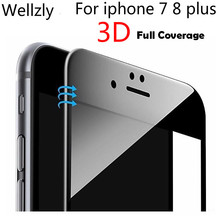 3d curved tempered glass Full Cover Tempered Glass For iphone 8 7 iPhone plus i7 Screen Protector film 9H Hardness