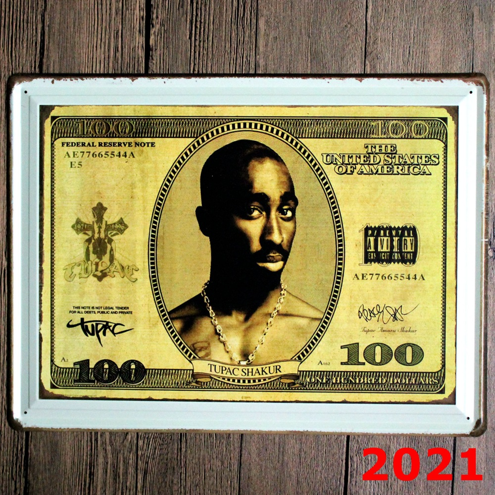 Online Shop 100 dollars New large Tin plate signs movie poster Art ...
