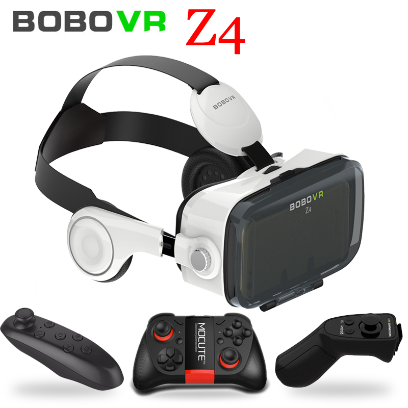 Original BOBOVR Z4 Leather Virtual Reality VR Glasses Headset 3D Cardboard Helmet Stereo Box BOBO VR for 4-6' Smart Phone original vr virtual reality 3d glasses box stereo vr google cardboard headset helmet for ios android smartphone bluetooth rocker