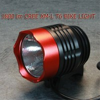 WasaFire XML T6 Bicycle Light 1800lm 3 Modes LED Headlamp Bike Light Cycling Frontlight Fishing Flashlight