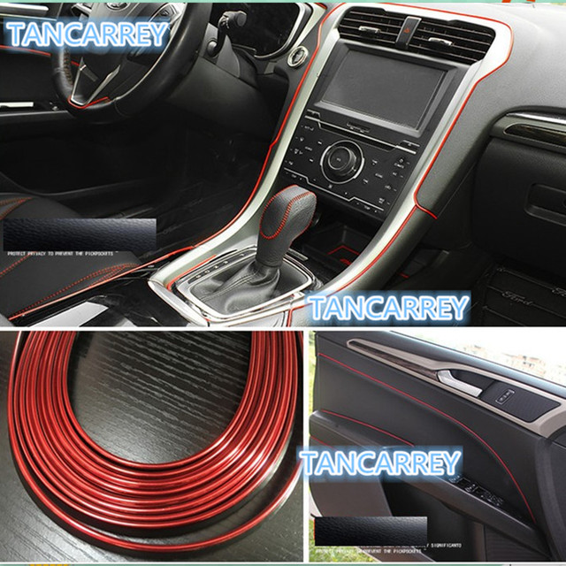 Car interior decoration trim strip for audi vw chevrolet cruze aveo captiva trax epica sail suzuki
