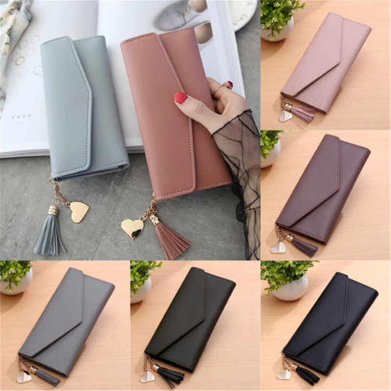 Modern Creative And New Fashion Lady Women Leather Clutch Wallet Long Card  Holder Case Purse Handbag 23543472eb