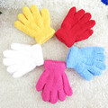 Winter Babys Gloves Children  Candy Colored  Warm Gloves Gloves Baby Cute Solid Gloves Children's Sweaters