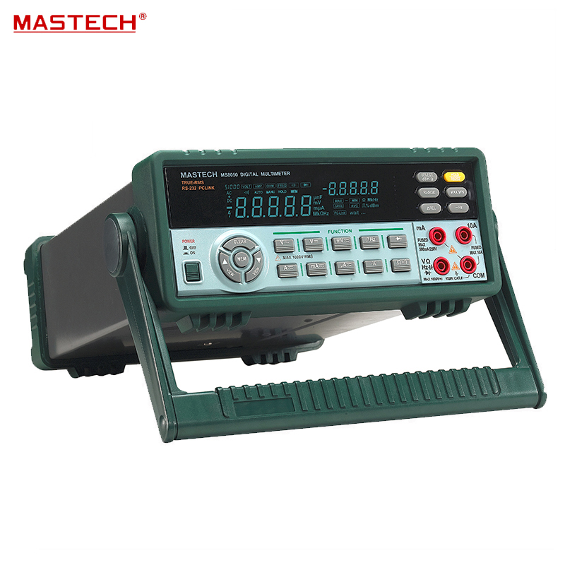 MASTECH MS8050 High Precision Bench Digital multimeter DCV0.03% Ture RMS VFD 53000 1uV 0.1ohm USB for R & D + measure + Lab