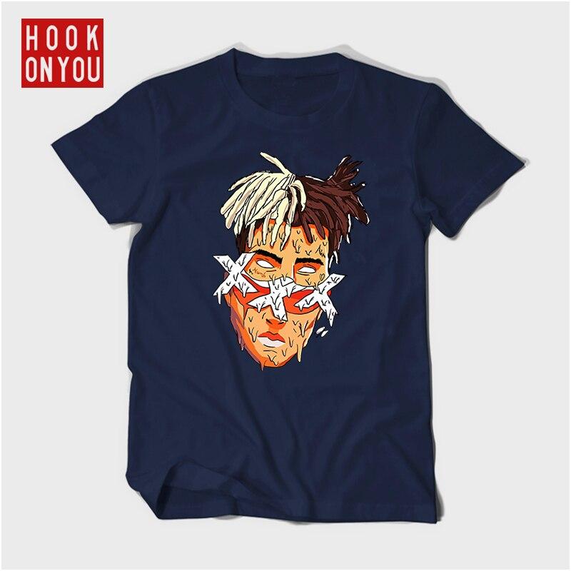 Xxxtentacion Character cotton T-Shirt Fashion Casual Fitness Cool O-neck Men's T Shirt Summer Short Sleeve Men Clothing