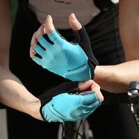 Santic Men and Women Short Finger Riding Cycling Gloves Road Bike Half Finger Breathable Comfortable Mesh Asian size