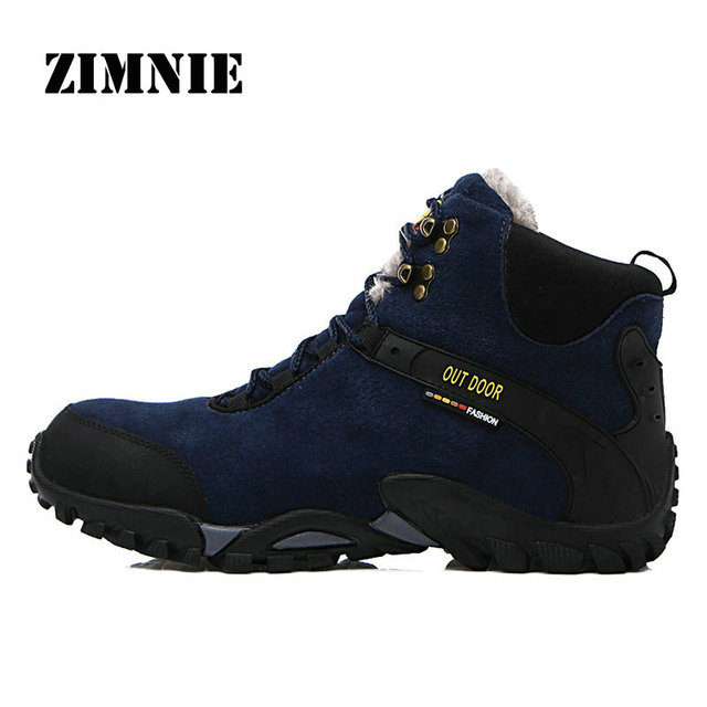 ZIMNIE New Waterproof Suede Hiking Boots Shoe Anti-Skid Wear Resistant Breathable Fishing Shoes Climbing High Top Trekking Shoes